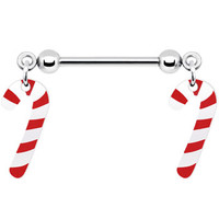 Candy Cane Nipple Ring   Body Candy Body Jewelry