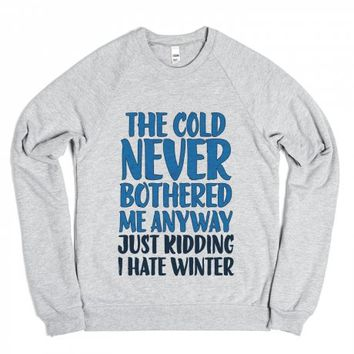 I Hate Winter-Unisex White T-Shirt