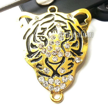 Golden Tiger Connector Tiger Pendant Sideways Connector