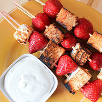 Grilled Strawberry Shortcake Kebabs ? From Away