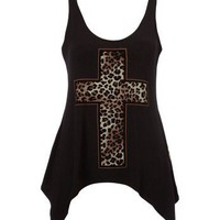 Lipsy Leopard Cross Vest