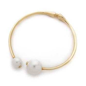 Kenneth Jay Lane Dual Imitation Pearl Choker Necklace