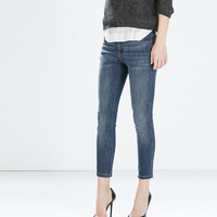 Fitted cropped jeans