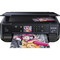 Epson - Expression Premium XP-610 Small-in-One Wireless All-In-One Printer - Black/Blue