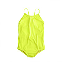 crewcuts Girls Racerback Neon One-Piece Swimsuit
