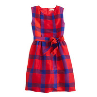 J.Crew Girls Tartan Plaid Dress