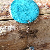 Altered Metal Dragonfly Crystal Nec.. on Luulla