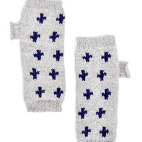 Swiss Cross Fingerless Gloves