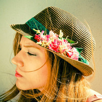 Joyful Summer Fedora Hat by dantiehandmade on Etsy