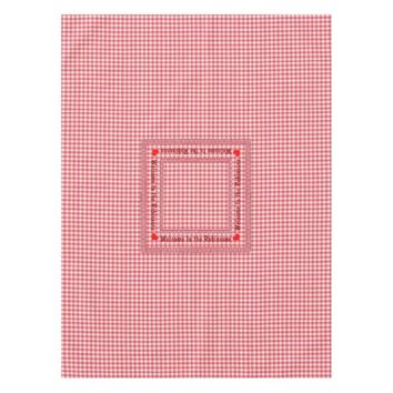 Red Checkered Tablecloth with your Name on it
