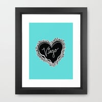 Virgo zodiac pale blue print