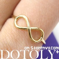 Classic Infinity Loop Promise Friendship Ring in Gold | DOTOLY -