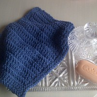 Blue Cotton Wash Or Dish Cloth - Ha.. on Luulla