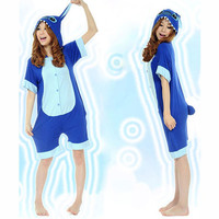 Cute Stitch Blue Cotton Kigurumi Costume Animal Pajamas [C20120722] - £29.36 : Zentai, Sexy Lingerie, Zentai Suit, Chemise