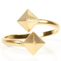 Gold Pyramid Stud Ring