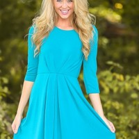 EVERLY:Heart & Health Dress-Teal