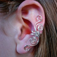 Silver Plated Multi Swirl Ear Cuff  on Luulla