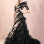 A-line one shoulder of Black halter cheap 2012 Agora wedding gowns - Basadress.com