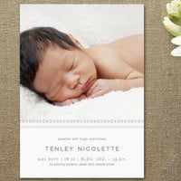 XOXO Birth Announcements by Andrea Snaza at Minted.com
