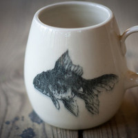 Fish Bowl Mug by piecesbyjoanna on Etsy