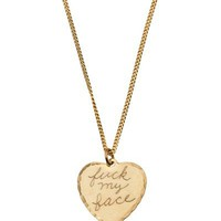 In God We Trust Fuck My Face Necklace - American Rag - farfetch.com