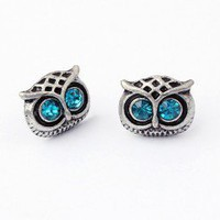 Cute Owl Crytal Fashion Earrings  | LilyFair Jewelry