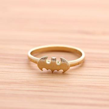 BATMAN ring in gold  by bythecoco on Zibbet