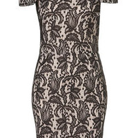 Bonded Lace Pencil Dress - Going Out  - New In