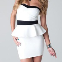 Sweetheart Peplum Dress