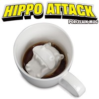 Hippo Attack Porcelain Mug - Whimsical & Unique Gift Ideas for the Coolest Gift Givers