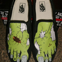 Handpainted Zombie Feet Shoes