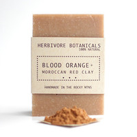 Blood Orange Soap. Moroccan Red Clay Soap. Handmade Vegan Soap. Cold Process Soap.