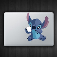 "Stitch 13"" Macbook Decal Macbook Sticker Air Pro Vinyl Decal Sticker Skin for Apple Laptop"