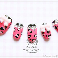 "Sexy Leopard Fake Nail Set - "" Sexy Little Thing """