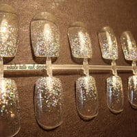 Holographic Glitter Tip False Nail Set