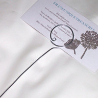 12 TALL ROUND wire Circle place card  Pick holder Wedding