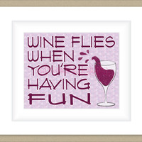 8x10 Wine Graphic Print, Whimsical Wall Art