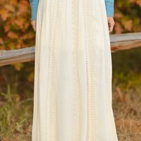 Saving Grace Maxi Skirt-Cream