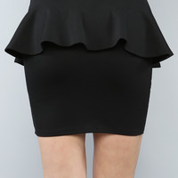 Fitted Peplum Skirt