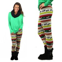 Jingle Bells Fleece Lined Leggings