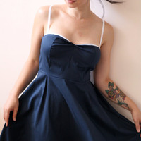 Nautical dress, pin up style, 15% OFF summer sale