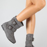 Onlyy-1 Suede Buckle Bootie
