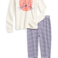 Girl's Tucker + Tate Two-Piece Fitted Pajamas,