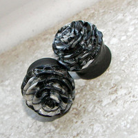 Marbled Rose Plugs - Sizes 00g, 1/2&quot;, 9/16&quot;, 5/8&quot;, 3/4&quot;, 7/8&quot;, 1&quot; - Made to Order