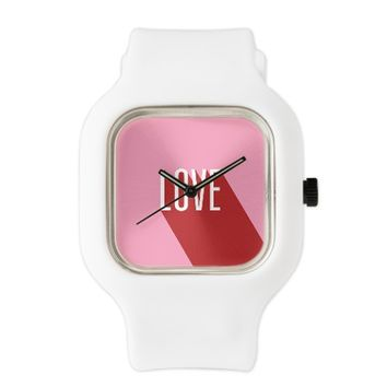 Love - Pink And Red Watch