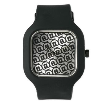 Black and White At Sign (Ampersat) Watch