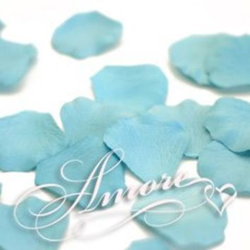 200 Wedding Silk Rose Petals Tiffany Blue-Turquoise
