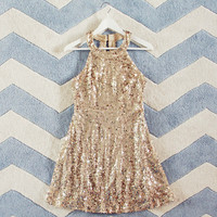 Mystic Gold Party Dress