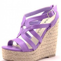 LILAC STRAPPY WEDGES @ KiwiLook fashion