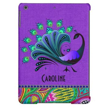 Chic Abstract Peacock/Kaledeiscope iPad Air Case